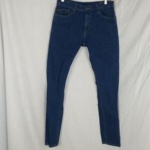 Res Denim High Rise Rail Skinny Jeans